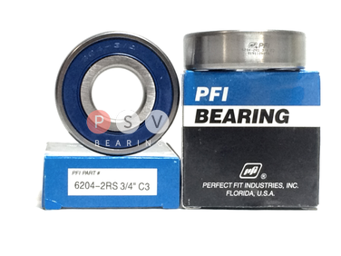 "Bearing PFI 6204-2RS 3/4"" C3 19.05x47x14 photo 1"