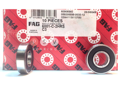Bearing FAG 6001 2RS C3 12x28x8 photo 1