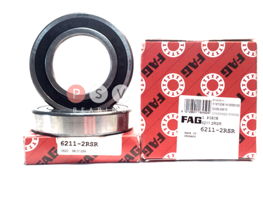 Bearing FAG 6211 2RS 55x100x21 photo 1